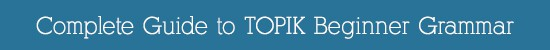Complete Guide to TOPIK Beginner Grammar