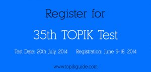 Register for 35th TOPIK