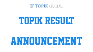 59th (July) TOPIK Results are Out