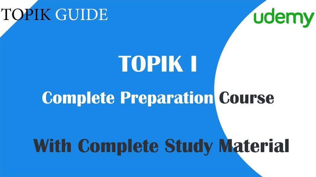 Udemy TOPIK GUDIE TOPIK I Preparation Course 171201