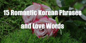 15 Romantic Korean Phrases and Love Words