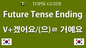 겠어요 & ㄹ 거예요 Future Tense - Korean Verb Ending