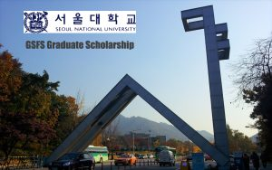 Seoul National University GSFS Scholarship 2018