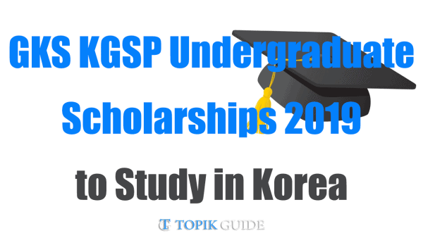 2019 Global Korea Scholarship - NIIED KGSP Undergraduate