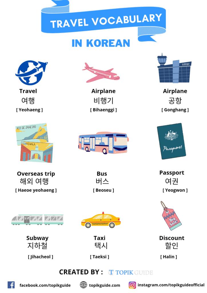 Korean travel vocabulary